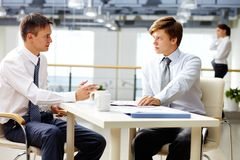 Man-to-man talk royalty free stock images