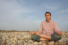 Man to meditate Royalty Free Stock Image