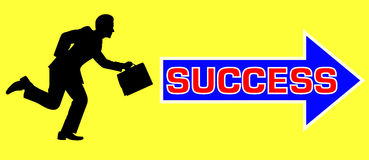 Man to success Royalty Free Stock Image