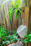 Man Toilet in in nature . Stock Photography