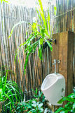 Man Toilet in in nature . Stock Photos