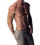 Man with a toned muscular physique Royalty Free Stock Photos