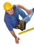 Man tool sit on floor Royalty Free Stock Photography