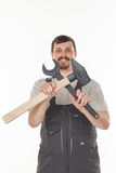 Man with tool Stock Photography