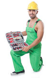 Man with toolkit Stock Image