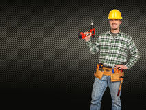 Man with tools Royalty Free Stock Photo