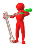 Man with tools Royalty Free Stock Image