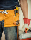Man with tools Stock Photo