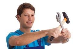 Man with tools Stock Photos