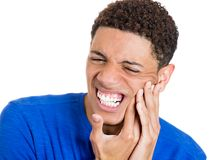 Man with tooth ache Royalty Free Stock Photo
