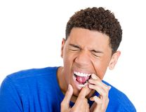 Man with tooth ache Stock Photography