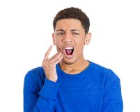 Man with tooth ache Stock Photo
