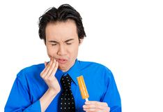 Man with tooth ache Stock Images