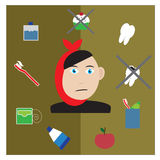 Man with a toothache Stock Images