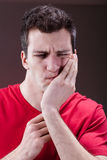 Man with a toothache Royalty Free Stock Photography