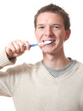 Man with toothbrush Royalty Free Stock Photo