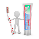 Man with a toothbrush Stock Photos