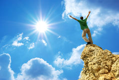 Man on top Royalty Free Stock Images