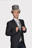 Man in a top hat. And posh suit Royalty Free Stock Photography