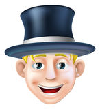 Man in top hat cartoon Stock Photography