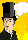 The man in the top hat Royalty Free Stock Photography