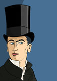 The man in the top hat Royalty Free Stock Photos