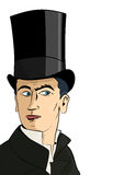 The man in the top hat Royalty Free Stock Images