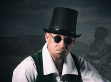 Man in a top hat. Vintage style portrait of a man in a top hat Royalty Free Stock Images
