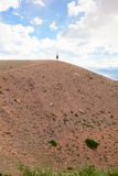 The  man on top of a hill Stock Photography
