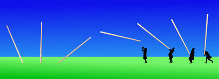 Man tossing the caber Royalty Free Stock Images