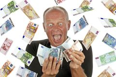 Man totally excited Royalty Free Stock Images