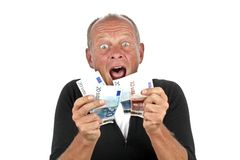Man totally excited Stock Image