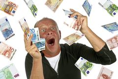 Man totally excited Royalty Free Stock Image