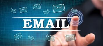 Free Man Touching An E-mail Concept Royalty Free Stock Images - 192669289