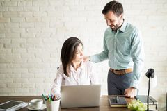 Harassment at the office royalty free stock photos