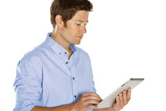 Man touchpad Royalty Free Stock Photography