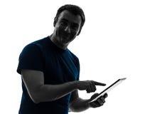 Man touchscreen digital tablet  posing portrait Royalty Free Stock Photos