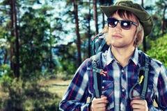 Man tourist Stock Photo