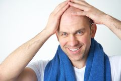 Man with towel Royalty Free Stock Images