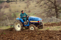 Man on tractor Stock Photography