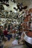 Man trades traditional metal crafts, Iran Stock Photos