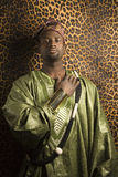 Man in traditional African clothing. Stock Photography