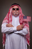 Man in traditional Arabic clothing Stock Photos
