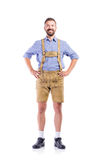 Man in traditional bavarian clothes, hands on hips Royalty Free Stock Photo