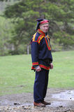 Man in traditional costume of sami culture Royalty Free Stock Images