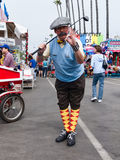 Man traditional golfers costume, county fair Stock Images