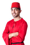 Man in traditional turkish hat Stock Photography