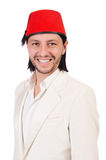 Man in traditional turkish hat Royalty Free Stock Photography