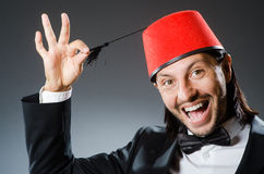 Man in traditional turkish hat Stock Photo