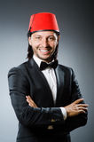 Man in traditional turkish hat Royalty Free Stock Image